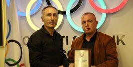 Presidenti i Komitetit Olimpik të Kosovës (KOK), Ismet Krasniqi ka pritur sot drejtuesit e Federatës së Boksit të Kosovës